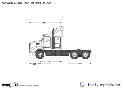 Kenworth T409 36-inch Flat Back Sleeper