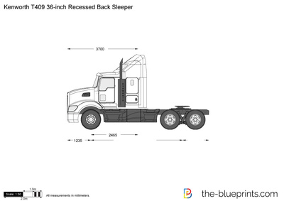 Kenworth T409 36-inch Recessed Back Sleeper