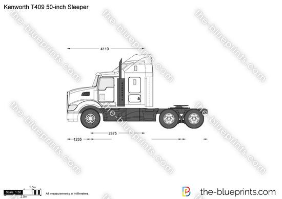 Kenworth T409 50-inch Sleeper