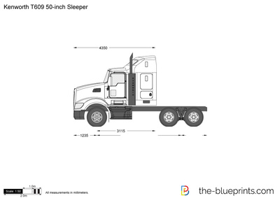 Kenworth T609 50-inch Sleeper