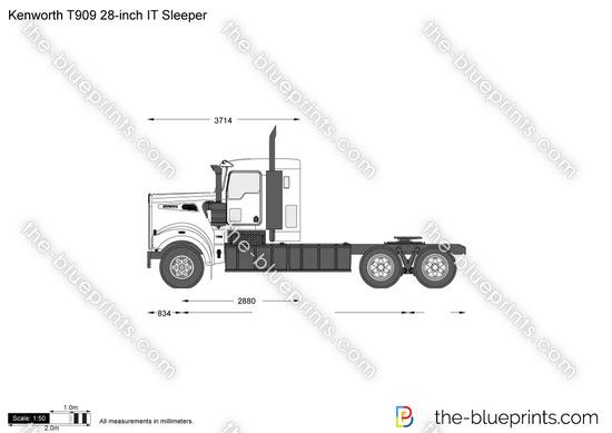 Kenworth T909 28-inch IT Sleeper