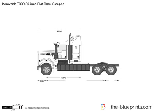 Kenworth T909 36-inch Flat Back Sleeper