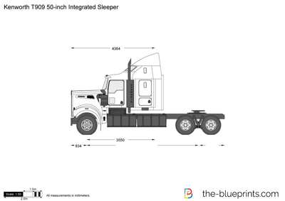 Kenworth T909 50-inch Integrated Sleeper