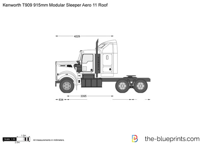 Kenworth T909 915mm Modular Sleeper Aero 11 Roof