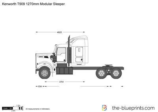Kenworth T909 1270mm Modular Sleeper