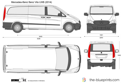 mercedes benz vito lwb vector drawing. Black Bedroom Furniture Sets. Home Design Ideas