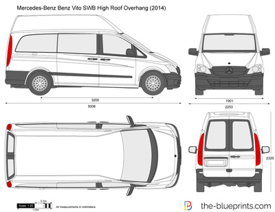 Mercedes-Benz Vito SWB High Roof Overhang
