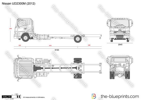The-Blueprints.com - Vector Drawing - Nissan UD2300M