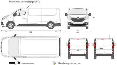 the vector drawing renault trafic grand passenger. Black Bedroom Furniture Sets. Home Design Ideas
