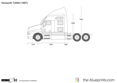 11267 mid the blueprints com vector drawing kenworth t2000 kenworth t2000 fuse box diagram at bakdesigns.co