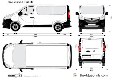 opel vivaro l1h1 combi vector drawing. Black Bedroom Furniture Sets. Home Design Ideas