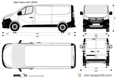 opel vivaro l2h1 vector drawing. Black Bedroom Furniture Sets. Home Design Ideas