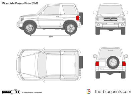 Mitsubishi Pajero Pinin SWB