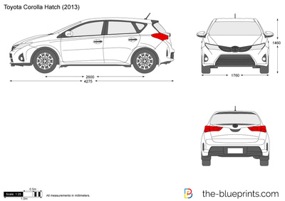 corolla coloring pages | The-Blueprints.com - Vector Drawing - Toyota Corolla Hatch