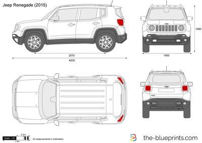 the vector drawing jeep renegade. Black Bedroom Furniture Sets. Home Design Ideas