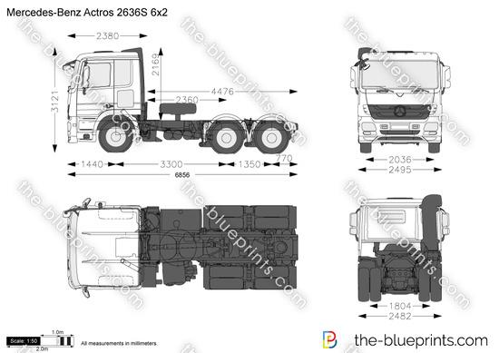 Mercedes-Benz Actros 2636S 6x2