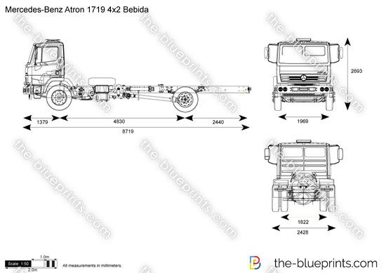 Mercedes-Benz Atron 1719 4x2 Bebida