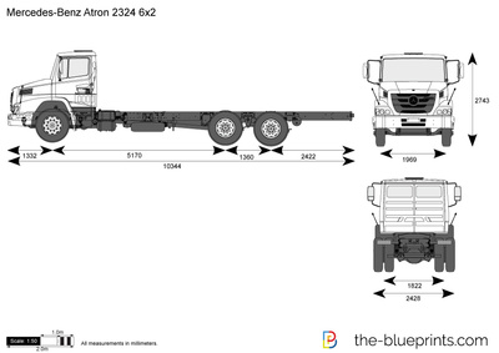 Mercedes-Benz Atron 2324 6x2