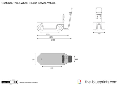 Cushman Three-Wheel Electric Service Vehicle
