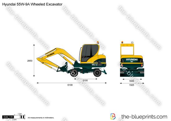 Hyundai 55W-9A Wheeled Excavator