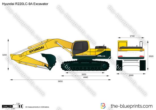 Hyundai R220LC-9A Excavator
