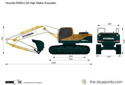 Hyundai R290LC-9A High Walker Excavator