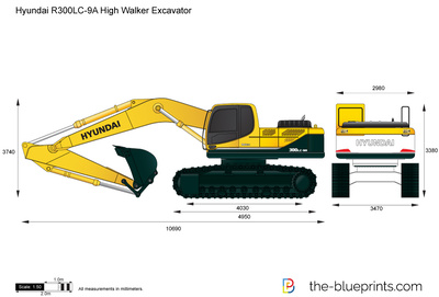 Hyundai R300LC-9A High Walker Excavator