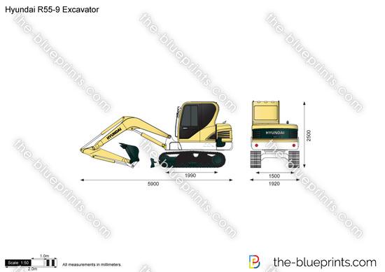 Hyundai R55-9 Excavator