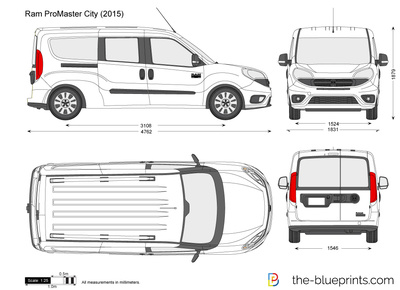Dodge ram promaster city  282015 29 on mid size car dimensions