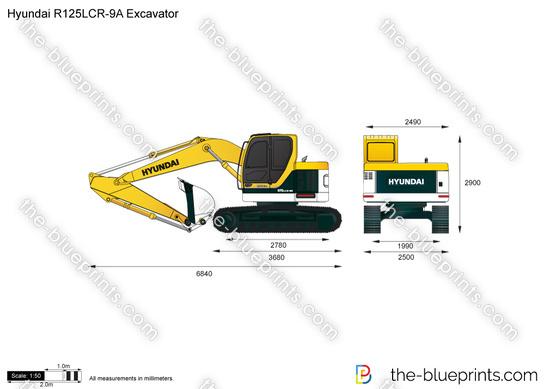 Hyundai R125LCR-9A Excavator
