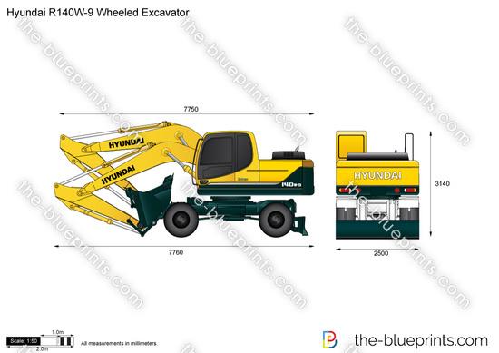 Hyundai R140W-9 Wheeled Excavator