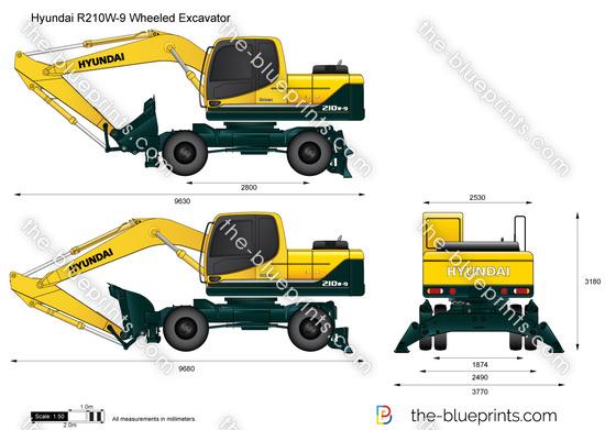 Hyundai R210W-9 Wheeled Excavator