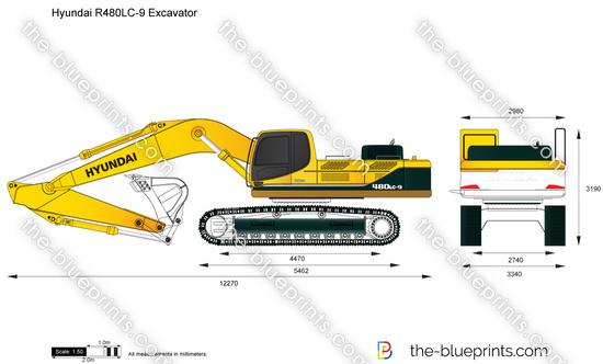 Hyundai R480LC-9 Excavator