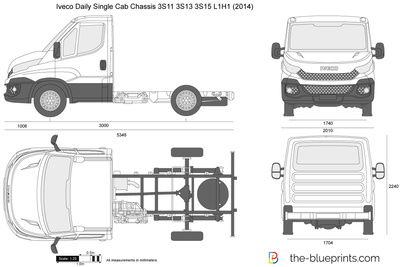 Iveco Daily Single Cab Chassis 3S11 3S13 3S15 L1H1