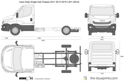 Iveco Daily Single Cab Chassis 3S11 3S13 3S15 L3H1