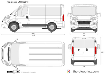 fiat ducato l1h1 vector drawing. Black Bedroom Furniture Sets. Home Design Ideas