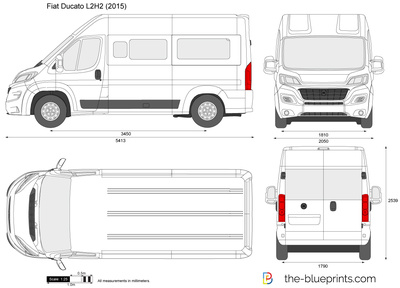 the vector drawing fiat ducato l2h2. Black Bedroom Furniture Sets. Home Design Ideas