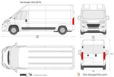 the vector drawing fiat ducato l4h2. Black Bedroom Furniture Sets. Home Design Ideas