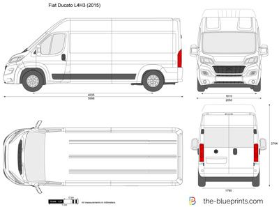 the vector drawing fiat ducato l4h3. Black Bedroom Furniture Sets. Home Design Ideas
