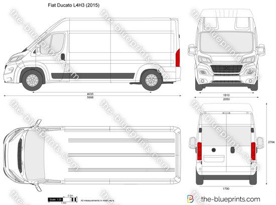 the vector drawing fiat ducato l4h3. Black Bedroom Furniture Sets. Home Design Ideas