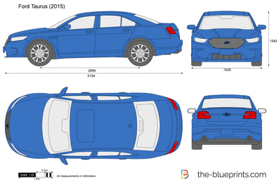 Always Chevrolet The-Blueprints.com - Vector Drawing - Ford Taurus