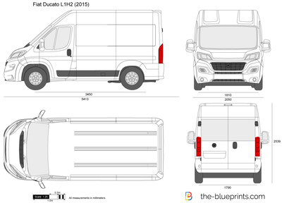 fiat ducato l1h2 vector drawing. Black Bedroom Furniture Sets. Home Design Ideas