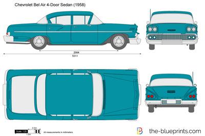 Chevrolet Bel Air 4-Door Sedan (1958)