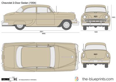 Chevrolet 2-Door Sedan (1954)