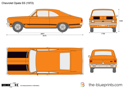 Chevrolet Opala Ss Vector Drawing