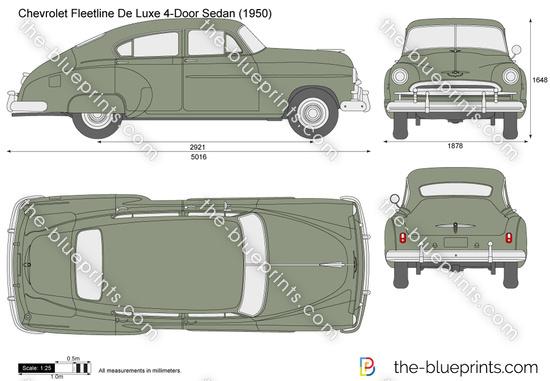 Chevrolet Fleetline De Luxe 4-Door Sedan