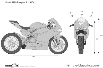 ducati 1299 panigale r vector drawing