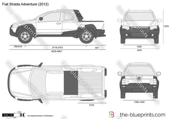 the vector drawing fiat strada adventure. Black Bedroom Furniture Sets. Home Design Ideas