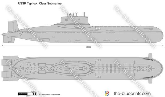USSR Typhoon Class Submarine