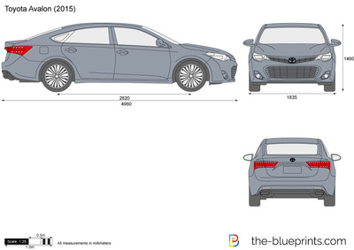 The-Blueprints.com - Blueprints > Cars > Toyota > Toyota Avalon (2015)